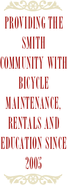 Providing the smith community with bicycle maintenance, rentals and education since 2005