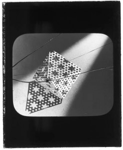 "Dorothy Wrinch envisioned proteins as ""fabrics"" which folded into cages she called cyclols. This model of the cyclol was made and photographed in Niels Bohr's laboratory in 1938."