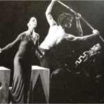 Rena Gluck (l) and Ohad Naharin (r) perform in Dream(1974) by Martha Graham