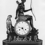 Table Clock with Sculptural Decoration