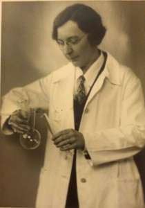 Burt at the University of Leipzig during her sabbatical year (1935).