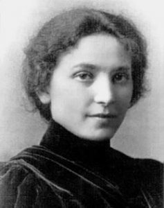 black and white portrait of Senda Berenson