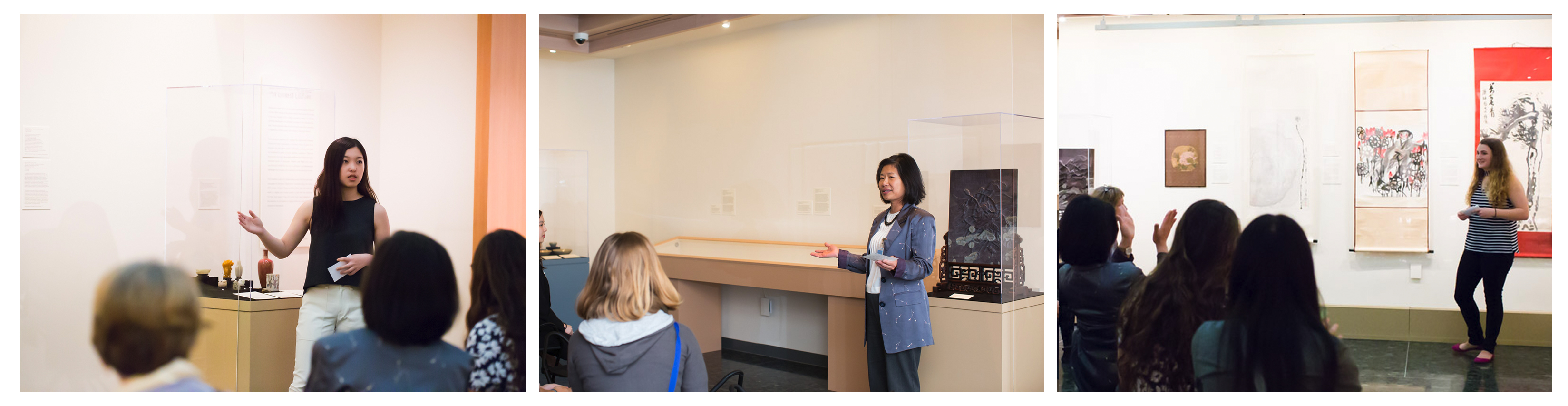 Photos from presentations by Gloria, Professor Sujane Wu, and Molly