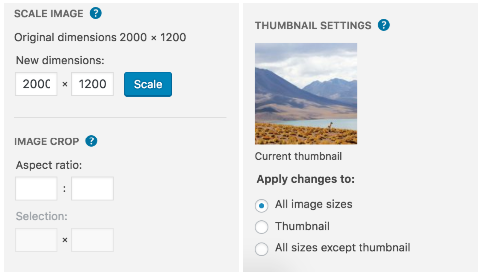 Image Scale and Thumbnail
