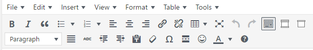 an image of the tool bar in blogs