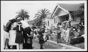 image of families preparing to move