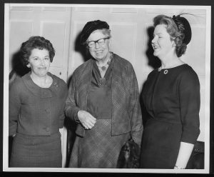 image of Mrs. Persinger, Eleanor Roosevelt and Mrs. Weinstein