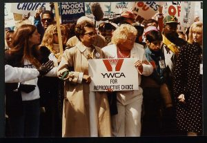 image of YWCA members at Women's march on Washington