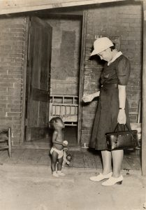 DOCUMENT 37. BCFA/Planned Parenthood Federation of America field nurse with chid, c1940.