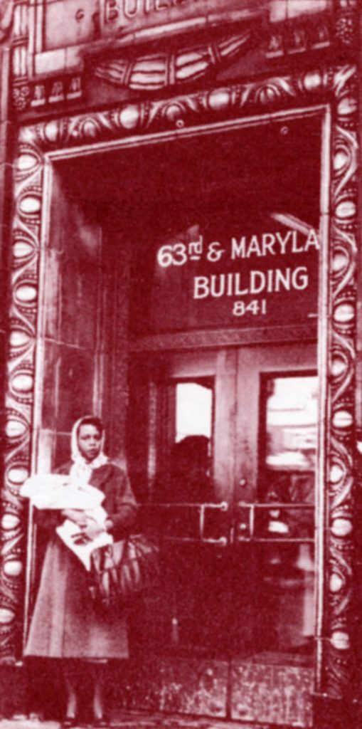 DOCUMENT 50. Black woman with child on steps of Planned Parenthood office in Chicago, 1960.