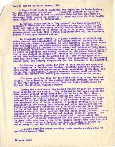 "DOCUMENT 11. Field worker Hazel Moore's 1937 report, ""Birth Control for the Negro."""