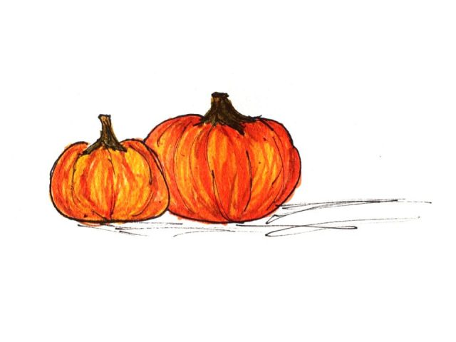 Illustration of pumpkins