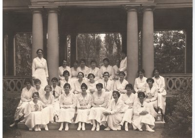 1920 Class and summer students sepia Photo