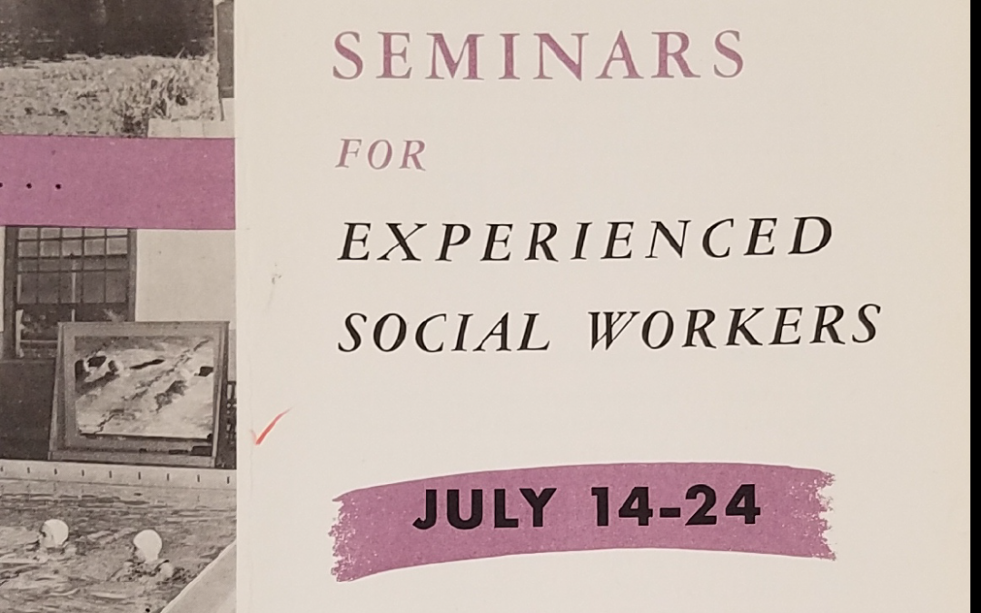 Graduate Seminars Pamphlet, 1958