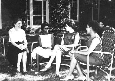 1961 Interracial group in lawn chairs 60 1315