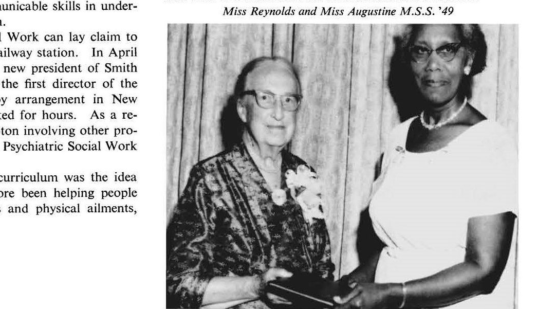 Alumnae Memories of Bertha Capen Reynolds
