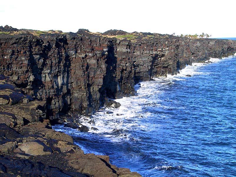 volcano cliffside